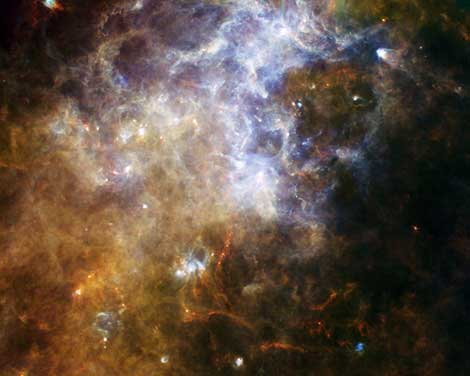 Formación de gas frío en la constelación Cruz del Sur.   ESA