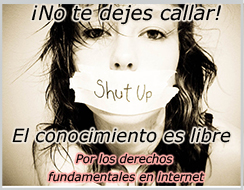 No te dejes callar. El conocimiento es libre.