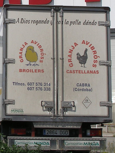 Campaña De Camiones Avícolas Ateos En Andalucía La