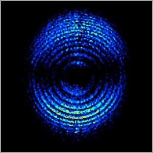 Electrón grabado en la Universidad de Lund (pulsar para ver el video)