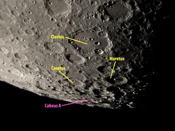 Localización de cráter Cabeus en el polo sur lunar (Foto: skythisweek.com)