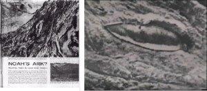 Fotografía aérea tomada en 1959 sobrevolando el monte Ararat