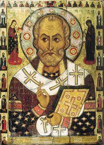 Icono de Nicolás de Bari. Lipnya Church of St. Nicholas en Novgorod. (Fuente: Wikimedia Commons)