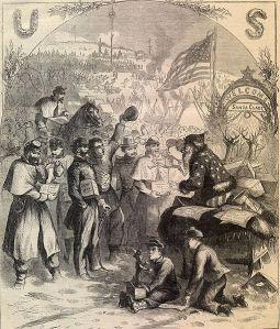 Portada del 3 de enero del periódico Harper's Weekly, con la ilustración de Santa Claus realizada por Thomas Nast