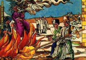 Científicos bíblicos comprobando experimentalmente el punto de ebullición de las brujas