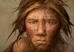 Recreación de una mujer Neanderthal (Fuente: National Geographic)