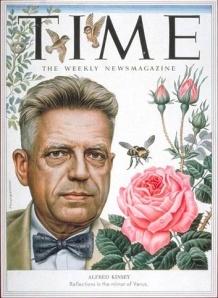 Alfred Charles Kinsey en la portada de la revista Time en 1953, con motivo de la publicación de Comportamiento sexual en la mujer