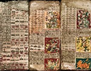 El códice de Dresde, el mejor conservado de los códices mayas.