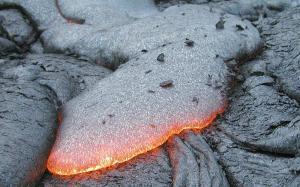 Lava basáltica y basalto solidificado