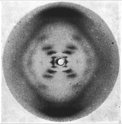 Primera imagen (recíproca) de la doble hélice