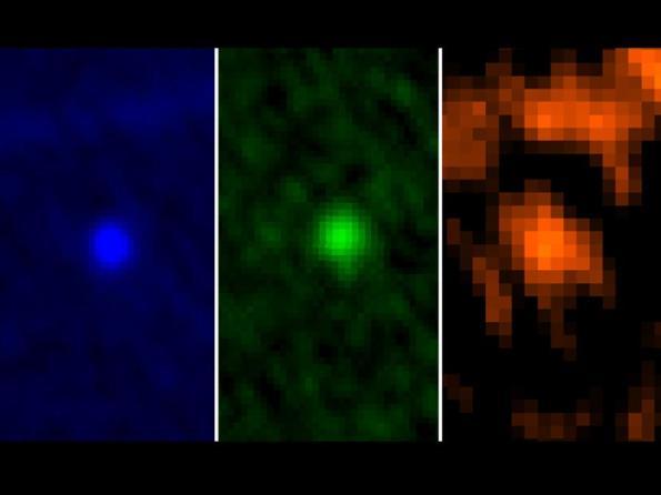 Visión en tres colores del asteroide Apofis (Misión Herschel de la ESA)