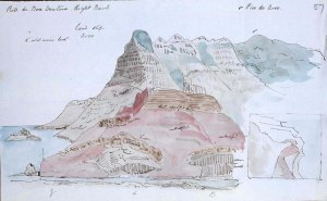 Sir Charles Lyell sketch of a land slip.