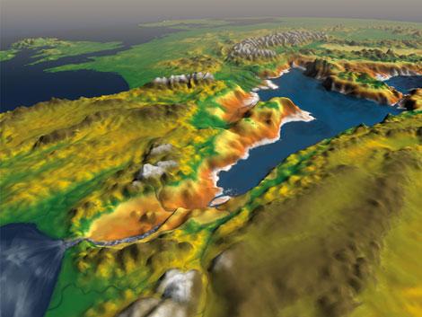 El Mediterráneo aislado del Atlántico hace 6 m.a.