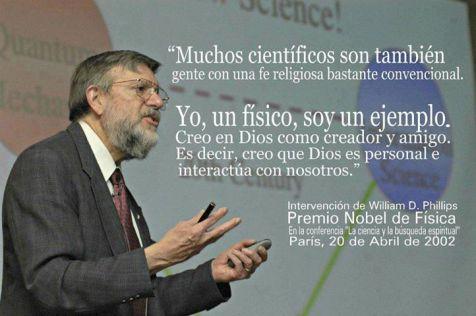 william d phillips premio nobel cientifico cristiano