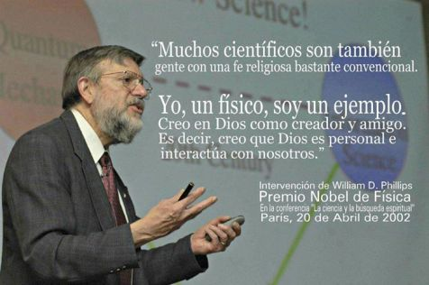william d phillips premio nobel cientifico cristiano