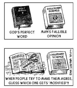 religion genesis creacionismo ciencia evolucion biblia dios conflicto
