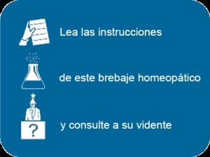 Homeopatía instrucciones