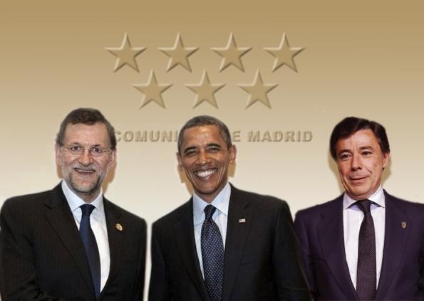 Mariano Rajoy, Barack Obama e Ignacio Gonzalez, el pasado noviembre en Madrid.