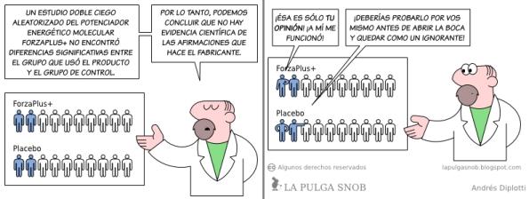 1 evidencia medica  efecto placebo homeopatia pulga snob