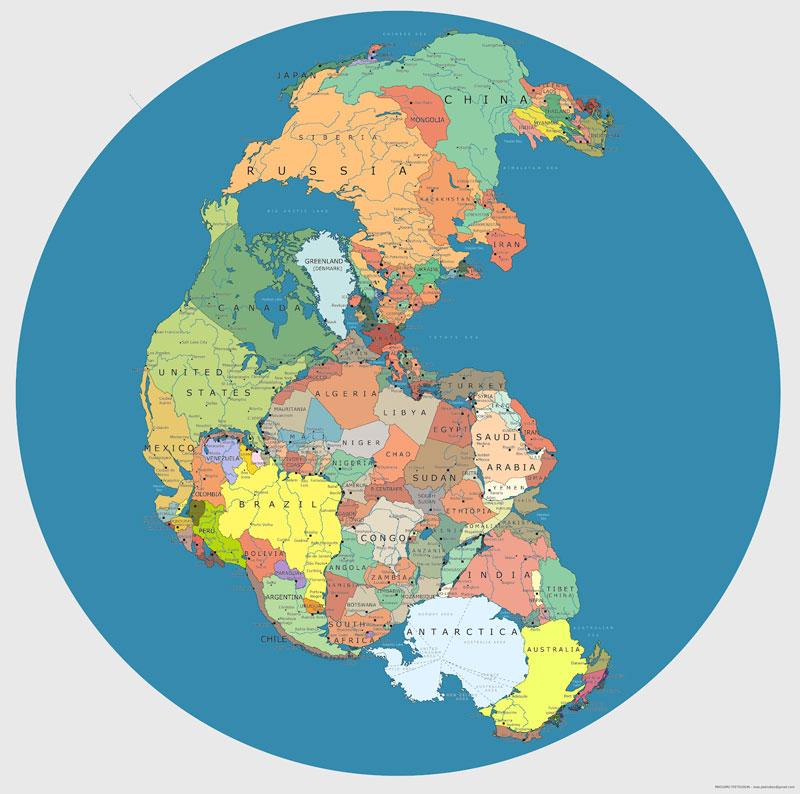 Mapa-pangea