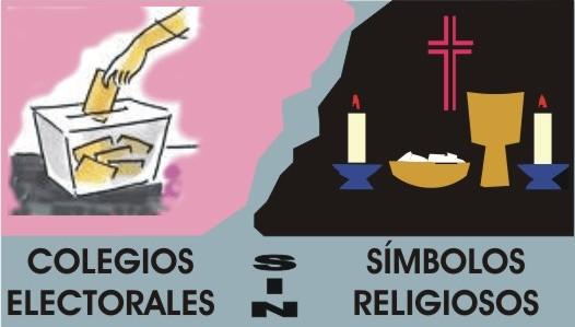 colegios electorales sin crucifijo ni símbolos religiosos