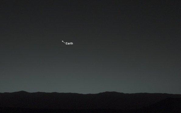 curiositiy foto tierra desde marte