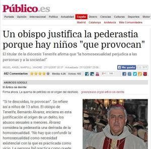 obispo tenerife pederastia homosexualidad