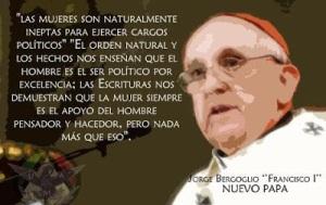 papa francisco misogino discriminacion sexual