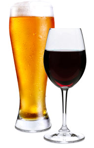 Beer-and-wine-glasses