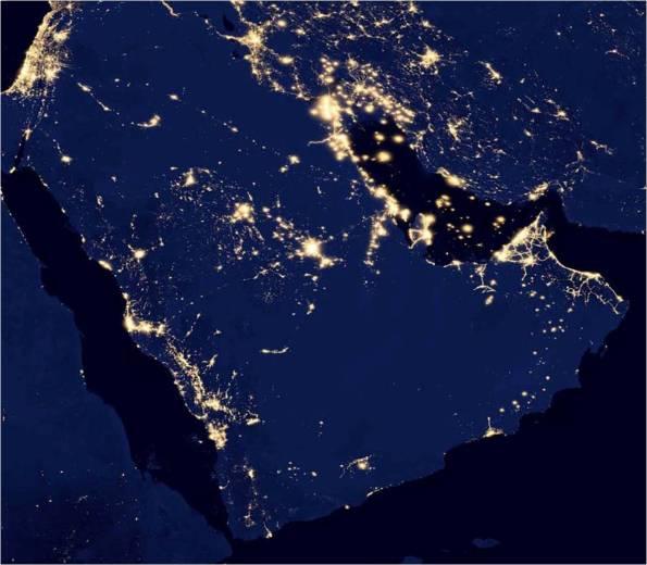 quema gas natural antorcha golfo persico