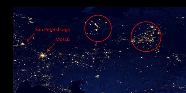 Siberia Moscu quema gas natural antorcha