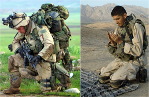 soldados rezando