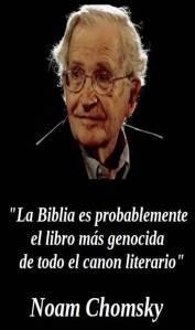 biblia genocidio chomsky